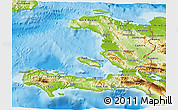 Physical 3D Map of Haiti
