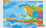 Political 3D Map of Haiti