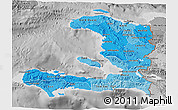 Political Shades 3D Map of Haiti, desaturated