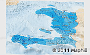 Political Shades 3D Map of Haiti, lighten
