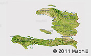 Satellite 3D Map of Haiti, cropped outside