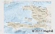Shaded Relief 3D Map of Haiti, lighten