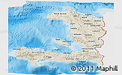 Shaded Relief 3D Map of Haiti, single color outside