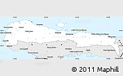 Silver Style Simple Map of Grand-Anse