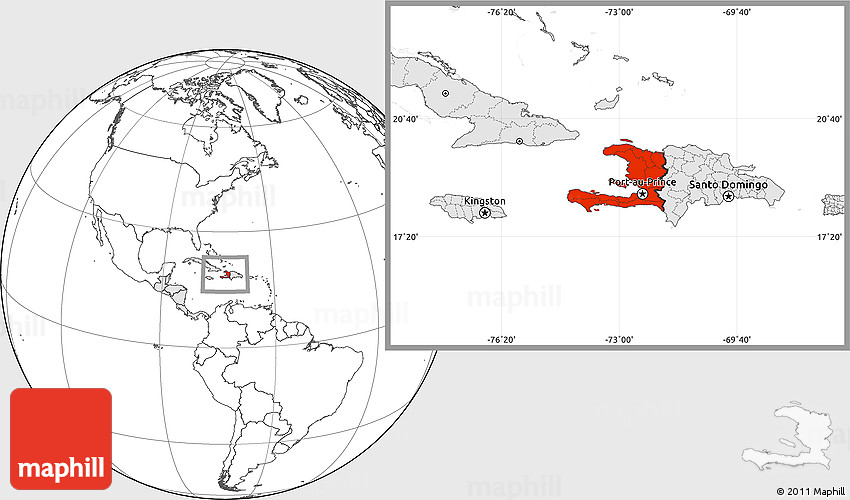 Blank location map of haiti highlighted continent 2d gumiabroncs