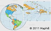 Blank Location Map of Haiti, political outside