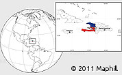 Flag Location Map of Haiti, blank outside
