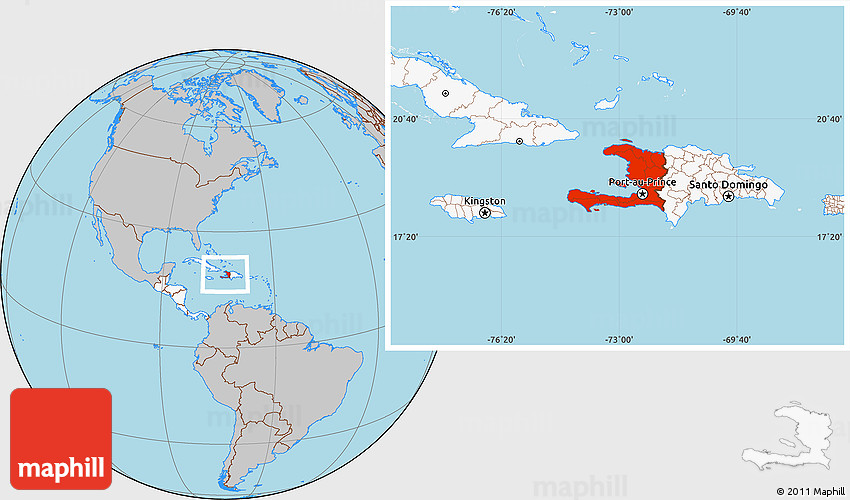 Gray location map of haiti highlighted continent gumiabroncs