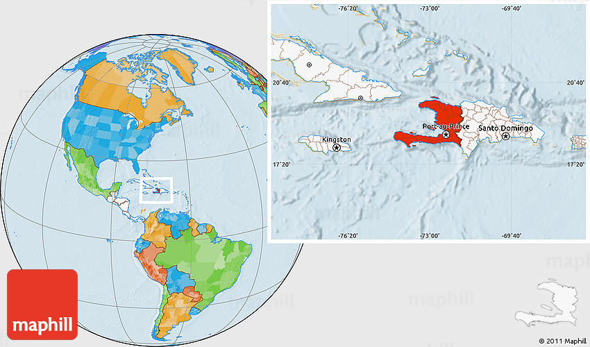 Haiti Map Of World.Where Is Haiti On A World Map