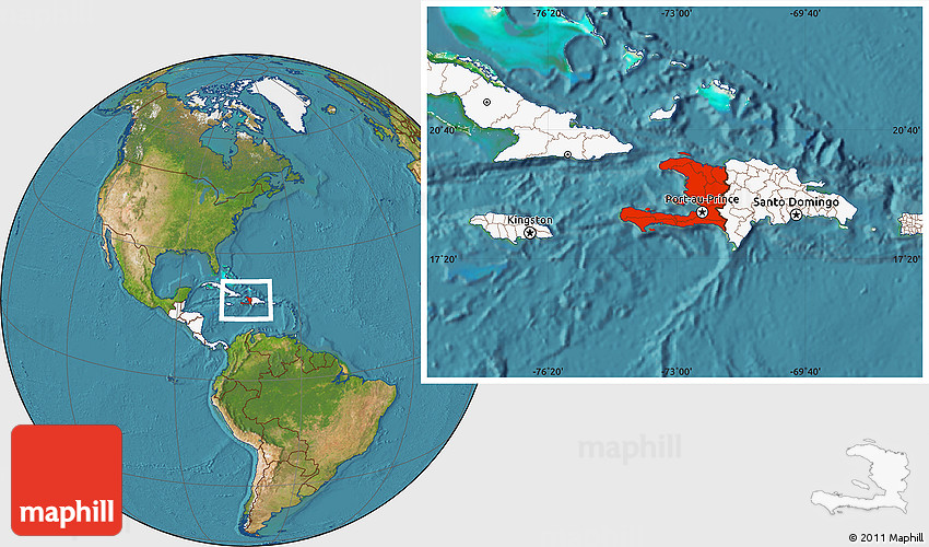 Satellite location map of haiti highlighted continent gumiabroncs Images
