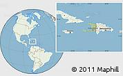 Savanna Style Location Map of Haiti, lighten, land only