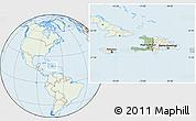 Savanna Style Location Map of Haiti, lighten