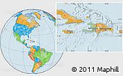 Savanna Style Location Map of Haiti, political outside