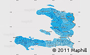 Political Shades Map of Haiti, cropped outside