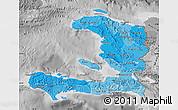 Political Shades Map of Haiti, desaturated
