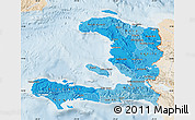 Political Shades Map of Haiti, lighten