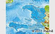 Political Shades Map of Haiti, physical outside