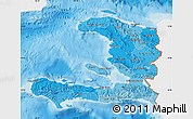 Political Shades Map of Haiti, single color outside
