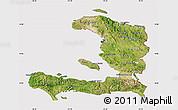 Satellite Map of Haiti, cropped outside