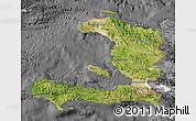 Satellite Map of Haiti, desaturated