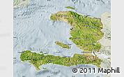 Satellite Map of Haiti, lighten