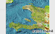 Satellite Map of Haiti, physical outside, satellite sea
