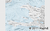 Silver Style Map of Haiti