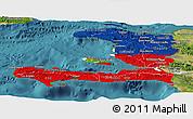 Flag Panoramic Map of Haiti, satellite outside