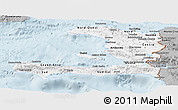 Gray Panoramic Map of Haiti