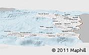 Gray Panoramic Map of Haiti, single color outside