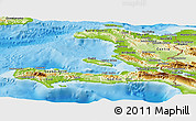 Physical Panoramic Map of Haiti
