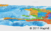 Political Panoramic Map of Haiti