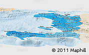 Political Shades Panoramic Map of Haiti, lighten