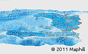 Political Shades Panoramic Map of Haiti, single color outside