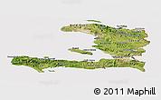 Satellite Panoramic Map of Haiti, cropped outside