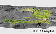 Satellite Panoramic Map of Haiti, desaturated