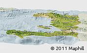 Satellite Panoramic Map of Haiti, lighten