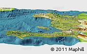 Satellite Panoramic Map of Haiti, physical outside, satellite sea