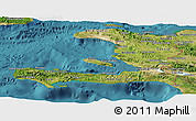 Satellite Panoramic Map of Haiti