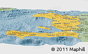 Savanna Style Panoramic Map of Haiti