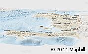 Shaded Relief Panoramic Map of Haiti, lighten