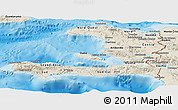 Shaded Relief Panoramic Map of Haiti