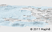 Silver Style Panoramic Map of Haiti