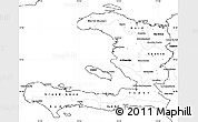 Blank Simple Map of Haiti