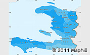 Political Shades Simple Map of Haiti, single color outside
