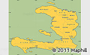 Savanna Style Simple Map of Haiti, cropped outside