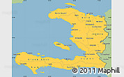 Savanna Style Simple Map of Haiti
