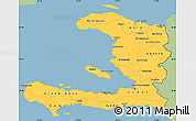 Savanna Style Simple Map of Haiti, single color outside