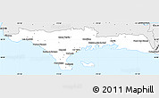 Silver Style Simple Map of Sud