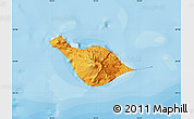 Political Shades Map of Heard Island and McDonald Islands